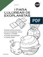 libro para colorear Exoplanets  Spanish 01-17-2017