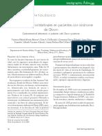 Alteraciones gastrointestinales en pacientes con sindrome de Down
