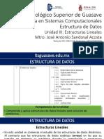 EDD U3 Estructuras Lineales(POO) 2016