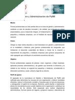 Programa Educativo Gestión y Administración de PyME