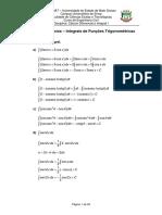 Fot 8591lista de Exebcycios 37 - Integbais de Funyes Tbigonomytbicas - Gababito PDF (1)