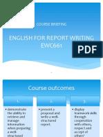 Ewc661 Course Briefing (March 2018)