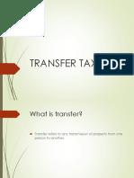 A. Transfer Taxes