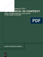 (Scientia Graeco-Arabica, 8) Peter E. Pormann-Epidemics in Context_ Greek Commentaries on Hippocrates in the Arabic Tradition-Walter de Gruyter (2012)