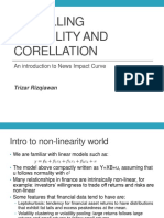 modelling volatility and corellation