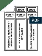 Label Portfolio & Folder Rancangan Pengajaran - Ok
