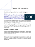 The Different Types of Paid Leaves in the Philippines
