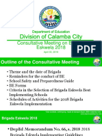 Consultative Meeting for BE 2018