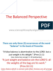 THE BALANCED PERSPECTIVE by Periander Esplana
