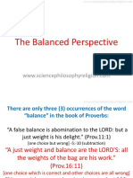 THE BALANCED PERSPECTIVE by Periander Esplana