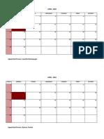 (Sir Leoville) Calendar