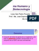 Genoma Humano y Biotecnología