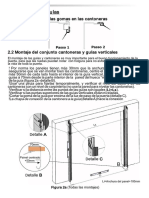 Instrucciones de Montaje Puerta Seccional