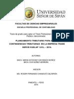 Tesis Final - Planeamiento Tributario Para Evitar Contingencias Tributarias en La Empresa Trans s