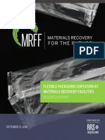 Flexible Packaging Sortation at Materials Recovery Facilities RRS Research Report