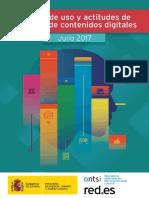 Uso y Actitudes de Consumo de Contenidos Digitales. Julio 2017