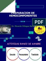 PREPARACION HEMOCOMPONENTES