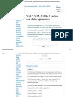 Sha1 Sha256 Sha512 Generator Calculator Online