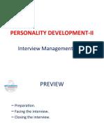 Personality Development II