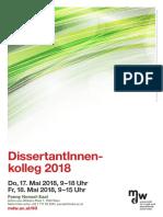 DissertantInnen-Kolleg 2018