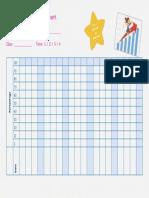 Times Tables Progress Chart