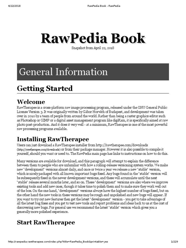 Raw Pedia | Rgb Color Model | Raw Image Format
