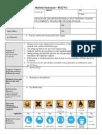 SWMS Method Statement Sample