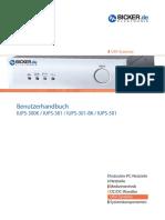Benutzerhandbuch Users Manual Iups-3XX 501