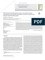 Does the Level of Energy Intensity Matter in the Effect of Energy Consumption on the Growth of Transition Economies_ Evidence From Dynamic Panel Threshold Analysis