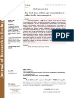 Land Suitability Analysis (LSA) based on fuzzy logic for prioritization of candidate sites for waste management