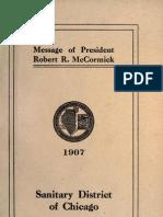 (1907) Message of President Robert R. McCormick