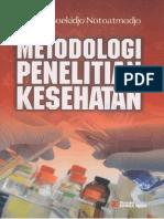 Metodologi Penelitian Kesehatan_Notoatmodjo