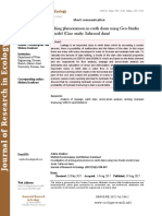 Investigation of arching phenomenon in earth dams using Geo-Studio model (Case study