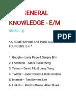 E-M GENERAL KNOWLEDGE