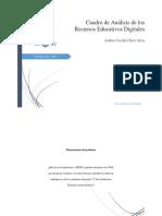 Cuadro de análisis de los Recursos Educativos digitales