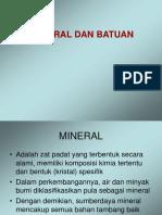 Mineral, Batuan