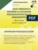 12 Enfoques Dirigidos Mejorar Situacion Psicoeducativa Immigrantes
