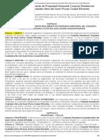 Reglamento de Propiedad Horizontal Conjunto Residencial Ciudadela Altos Del Gualí (Funza Ciudad Eficiente)