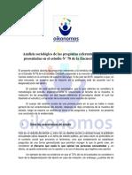 Analisis Sociologico a Encuesta Cadem Publicada El Lunes 13 de Julio de 2015
