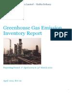 GHG Emission Inventory Report - Haldia Refinery