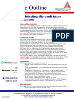 20535 Architecting Microsoft Azure Solutions