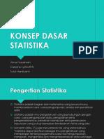konsep dasar biostatistika