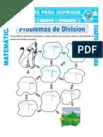 Ficha Problemas de Division Para Cuarto de Primaria