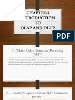 Chapter 3 Olap and Oltp