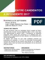 AFICHE DEBATE POLITICO