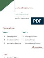 1. PAH - Diapositivas PDF Conferencia MinHacienda - 2017. Constitución Política. Septiembre 25