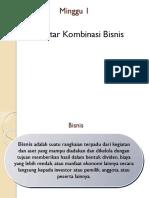 Intro Kombinasi Bisnis (M 1)