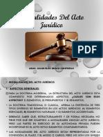 Normas y Silogismo Jurídico MODALIDAD DEL ACTO