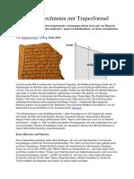 Babylonier Rechneten Mit Trapezformel