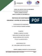 Protocolo indicador venoclisis instalada